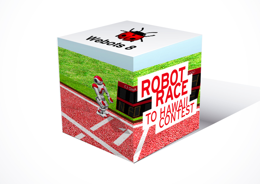 cubo_webots_8_robot_race_to_hawaii_contest