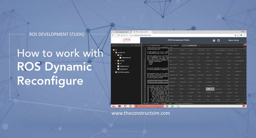 How to work with ROS Dynamic Reconfigure