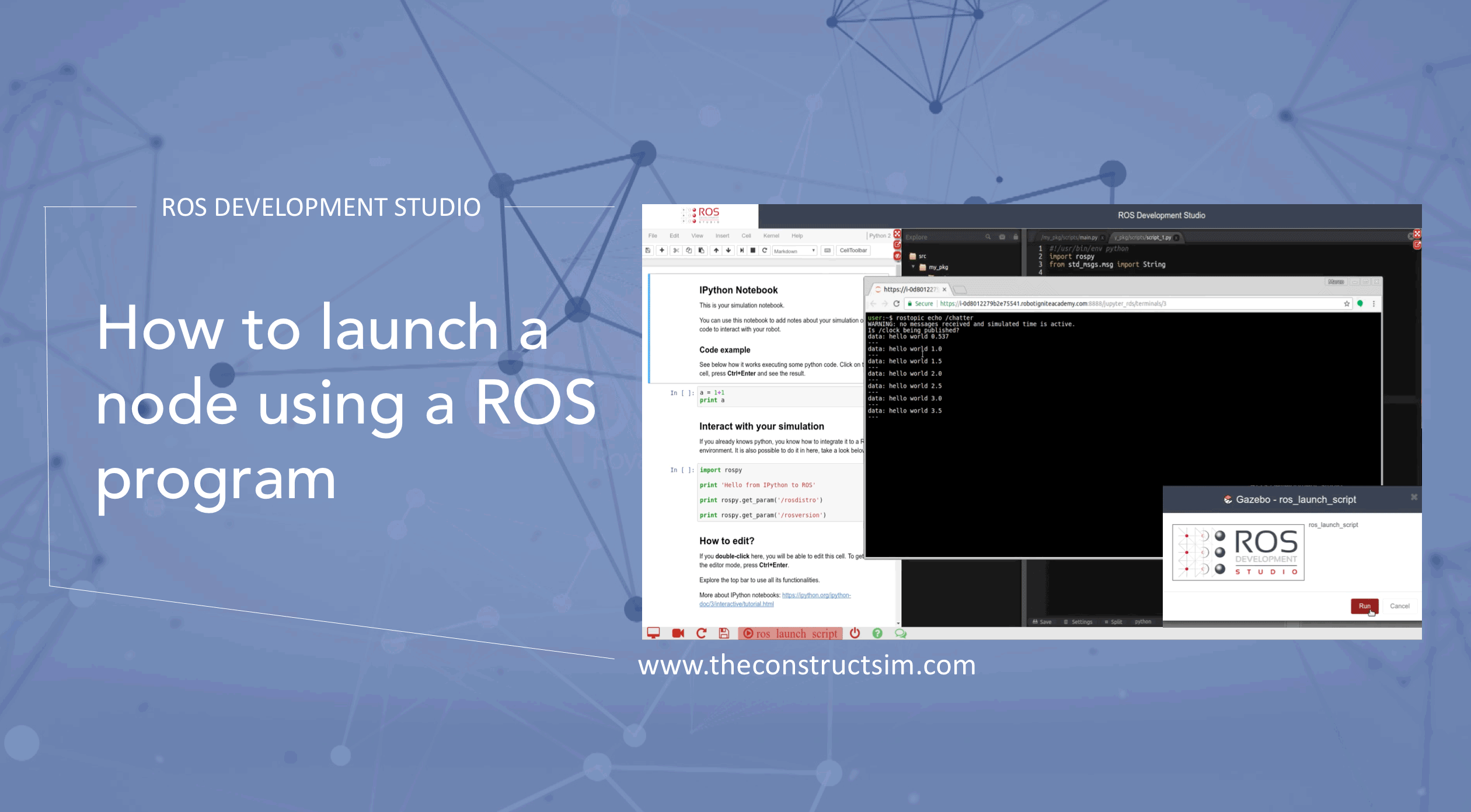 ROS Q&A] How to launch a node using a ROS program | The Construct