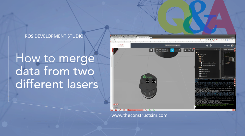 ROS Q&A] How to merge data from two different lasers | The Construct