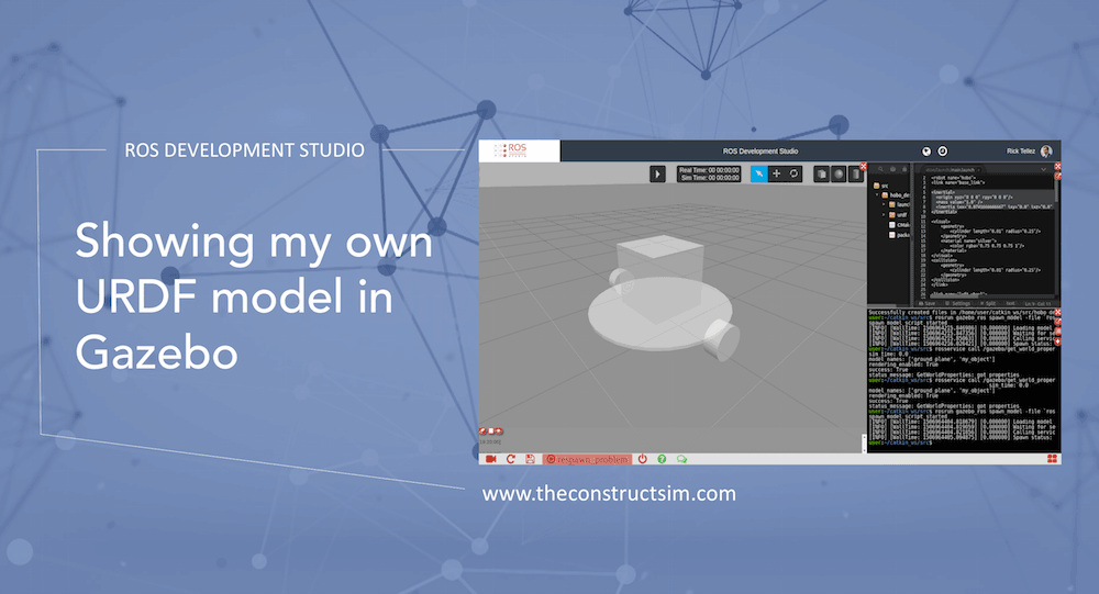 ROS Q&A] Showing my own URDF model in Gazebo | The Construct