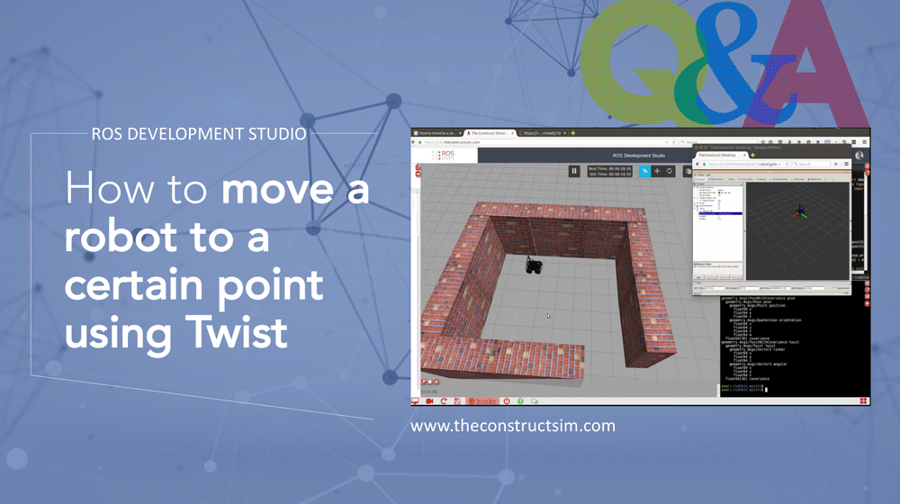 ROS Q&A] How to move a robot to a certain point using Twist | The