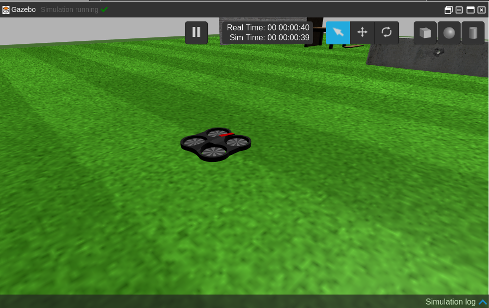 Parrot Drone with ROS simulation