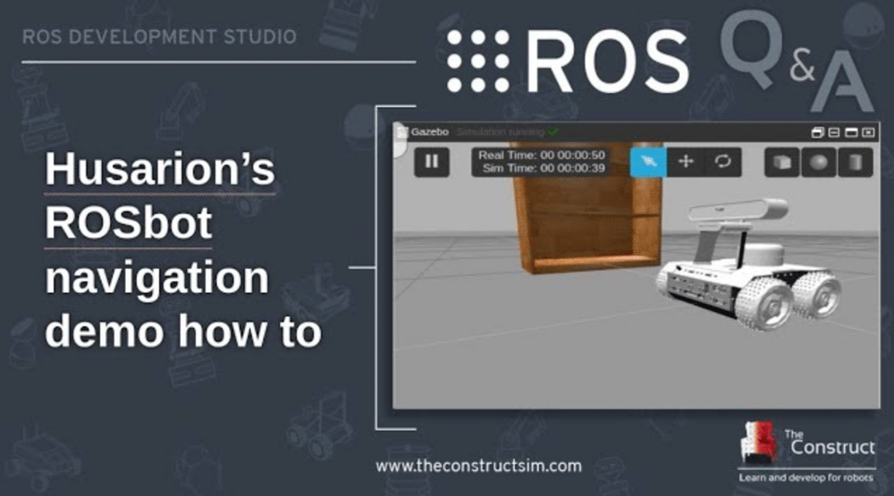 ROS Q&A] 116 - Launching Husarion ROSbot navigation demo in Gazebo