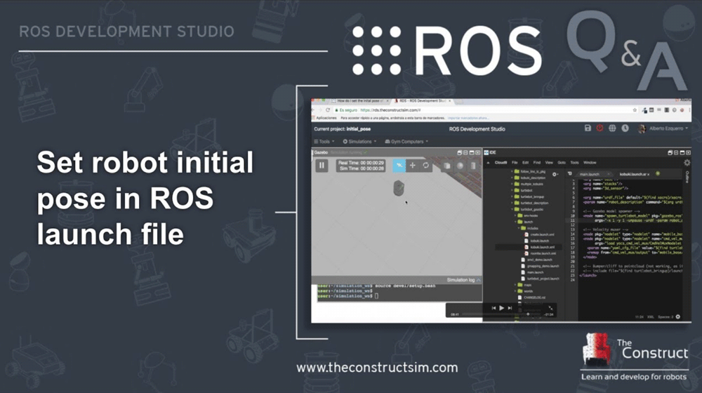 Set-robot-initial-pose-in-ROS-launch-file