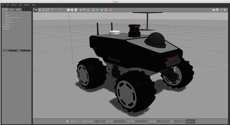 Gazebo ROS Gazebo9 Summit XL robot simulation