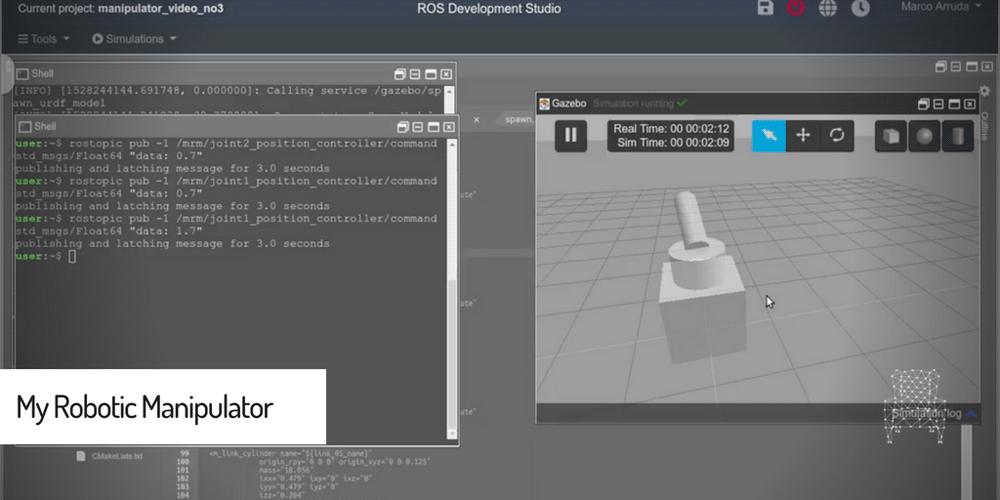 ROS Tutorials] My Robotic Manipulator : ROS + URDF