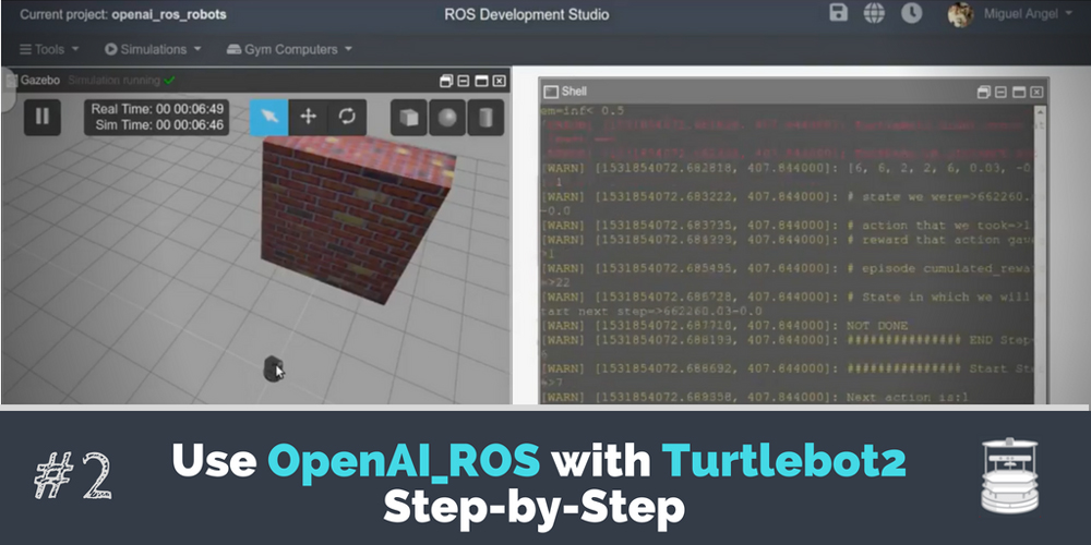 [ROS Projects] – Use OpenAI_ROS with TurtleBot2 Step-by-Step #Part 2