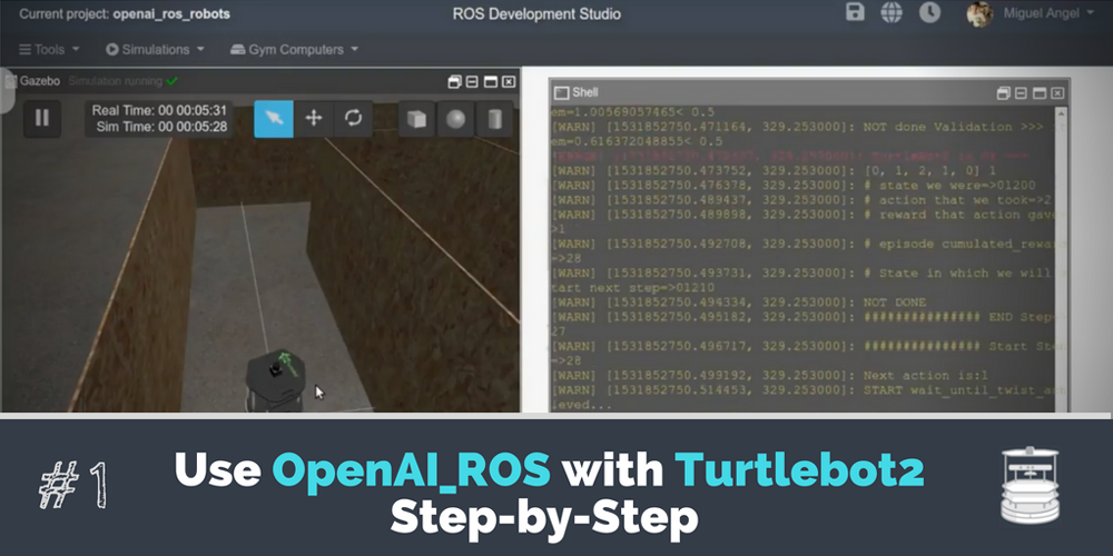 ROS Projects] - Use OpenAI_ROS with Turtlebot2 Step by Step