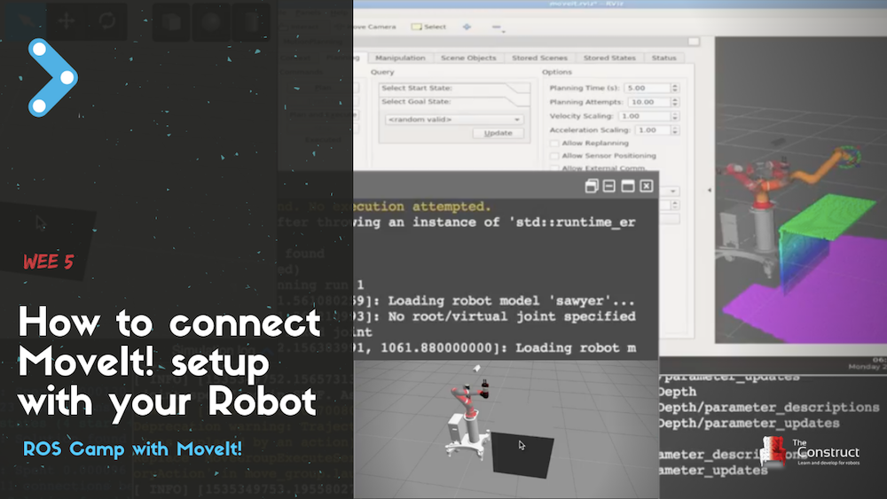 Movelt! Camp Learning Movelt! with Sawyer robot in 5 weeks!