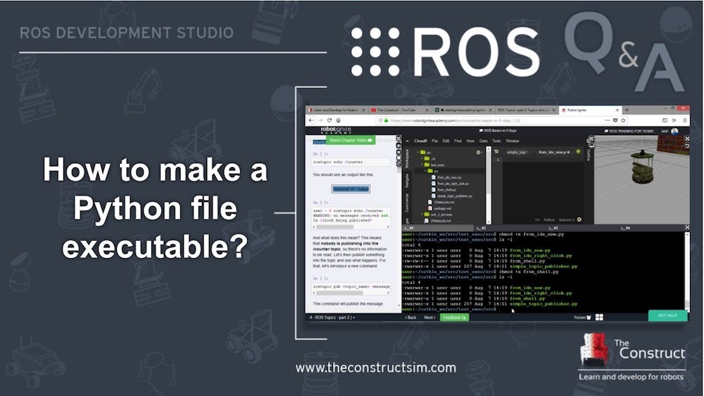 ROS Q&A] 147 - How to make a Python file executable? | The