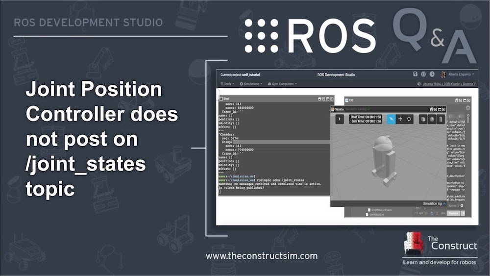 [ROS Q&A] 156 - JointPositionController doesn't post on :joint_states topic
