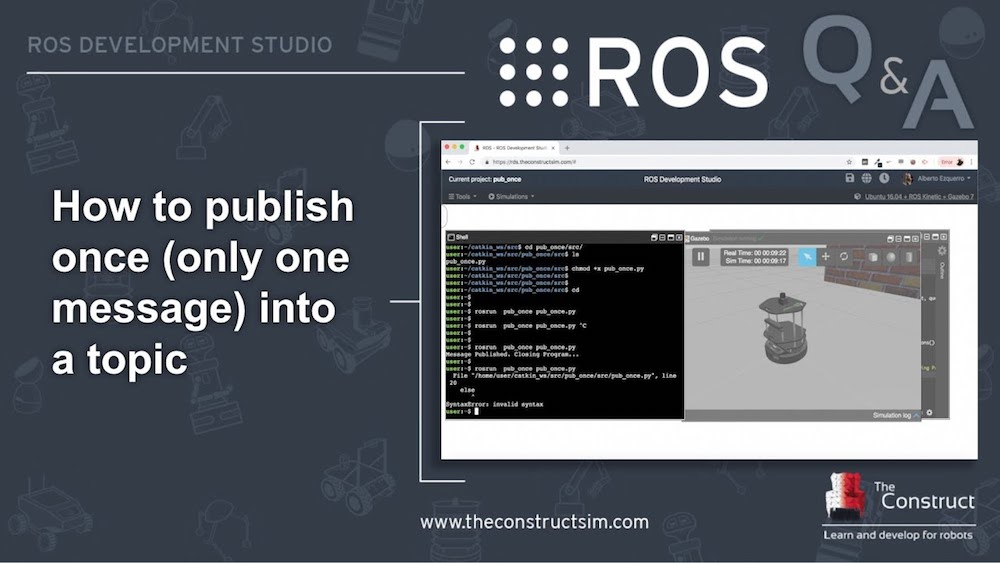 [ROS Q&A] 158 - How to publish once (only one message) into a topic