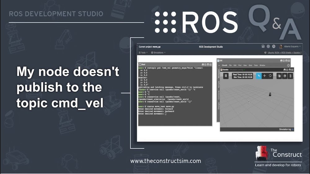 ROS Q&A] 160 - My node doesn't publish to the topic cmd_vel