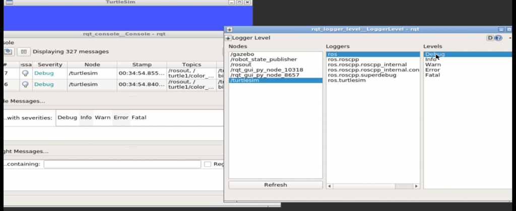 rqt_console - After Changing Logger Level