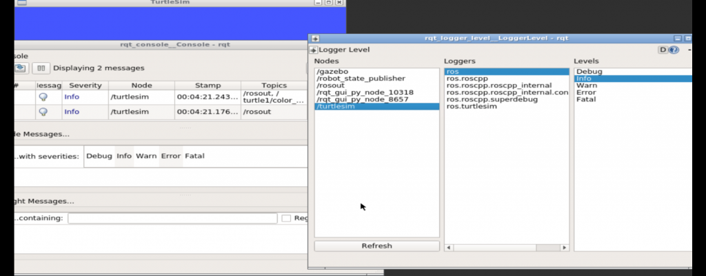 rqt_console - Before Changing Logger Level