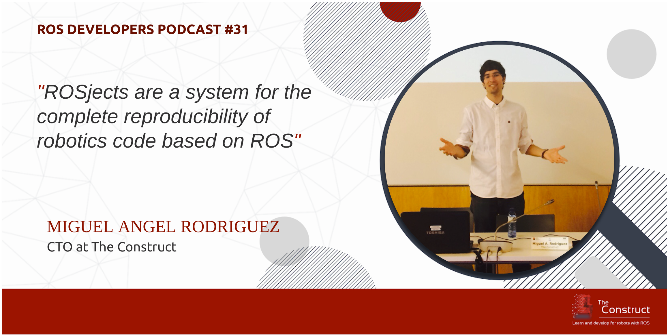 Miguel Angel Rodriguez ROSjects ROS Developers Podcast