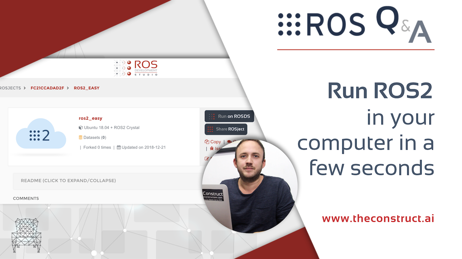 [ROS Q&A] 172 - Run ROS2 in your computer in a few seconds