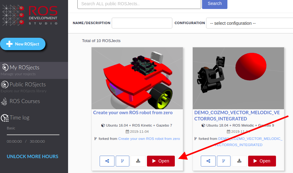 Creating your own robot from Scratch in ROSDS