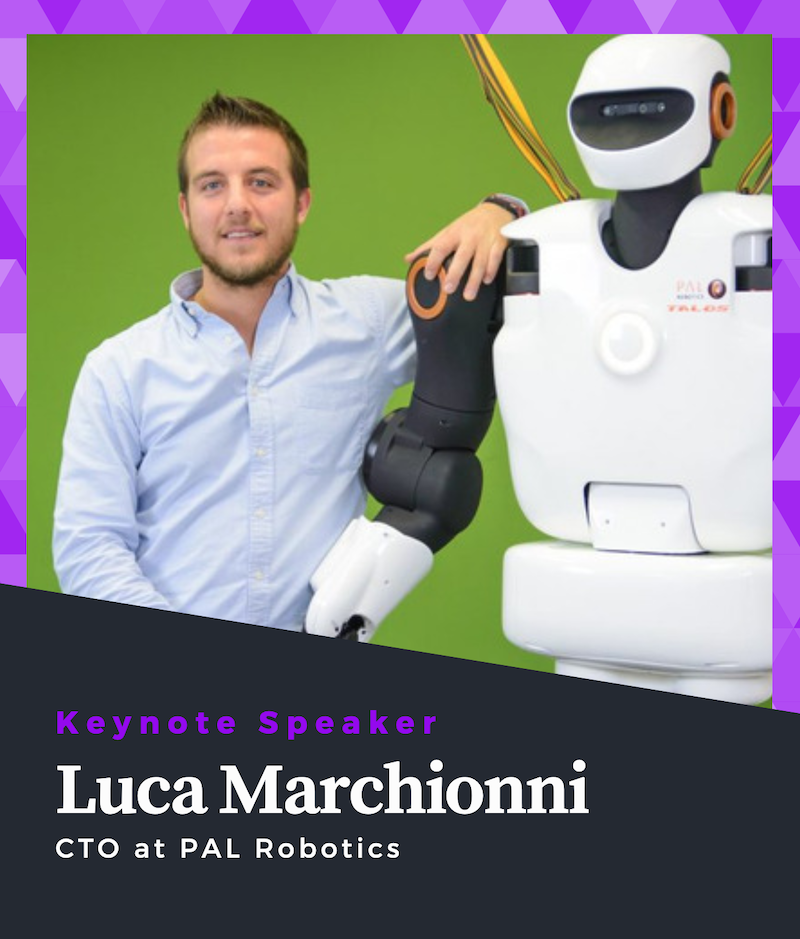 Luca Marchionni Keynote Speaker of ROS Developers Conference 2019