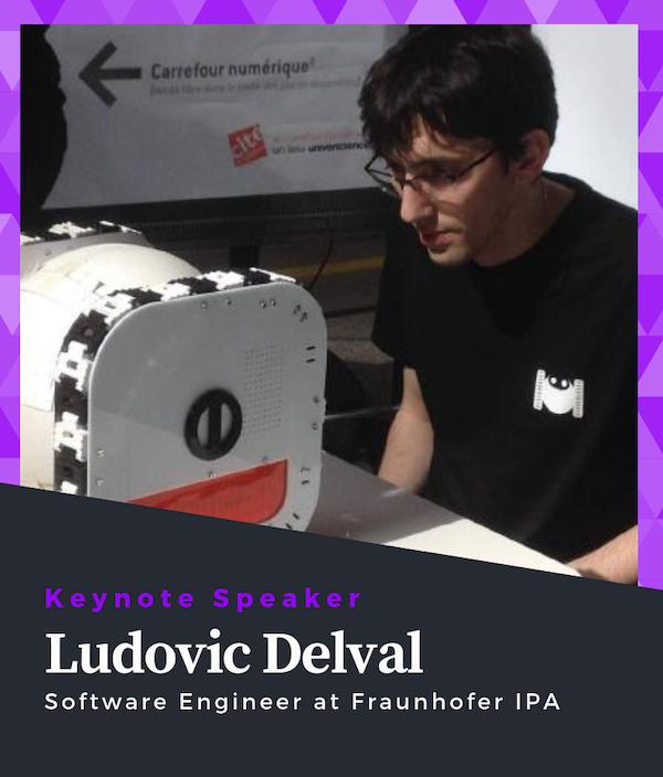 Ludovic Delval Keynote Speaker of ROS Developers Conference 2019
