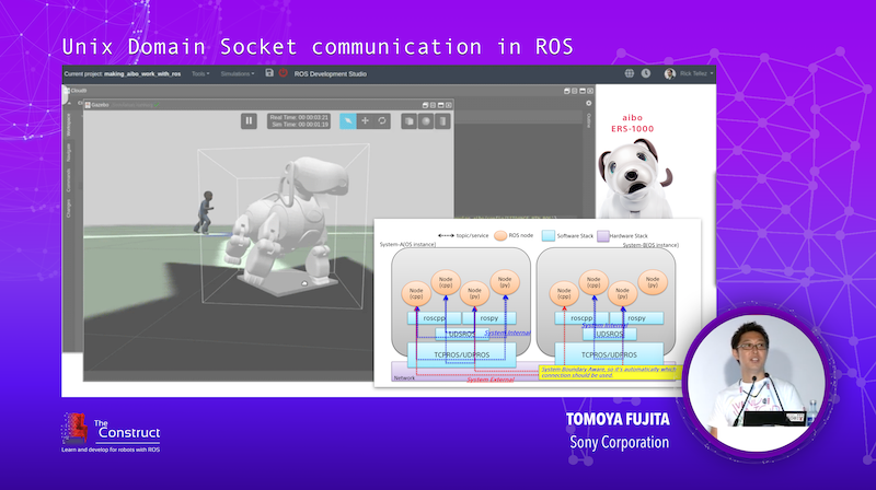 Unix Domain Socket communication in ROS ROSDevCon19 Keynote Speaker - Tomoya Fujita