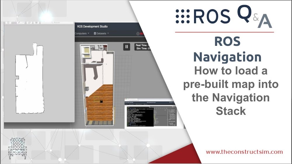 [ROS Q&A] 191 - How to load a pre-built map into ROS for the Navigation Stack