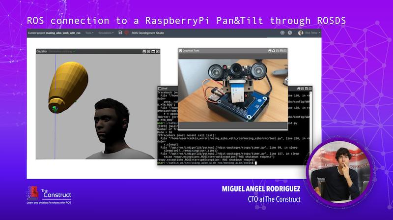 ROS connection to a RaspberryPi PanAndTilt through ROSDS #ROSDevCon19
