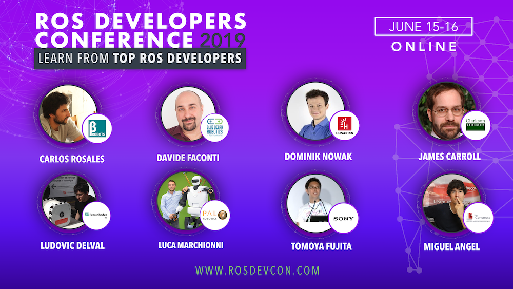 ROSDevCon19 - ROS Developers Conference | The Construct