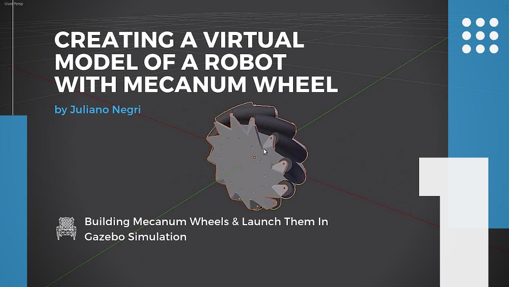 [Robot Modeling] #1 - Create a Virtual Model of a Omni Wheel Robot