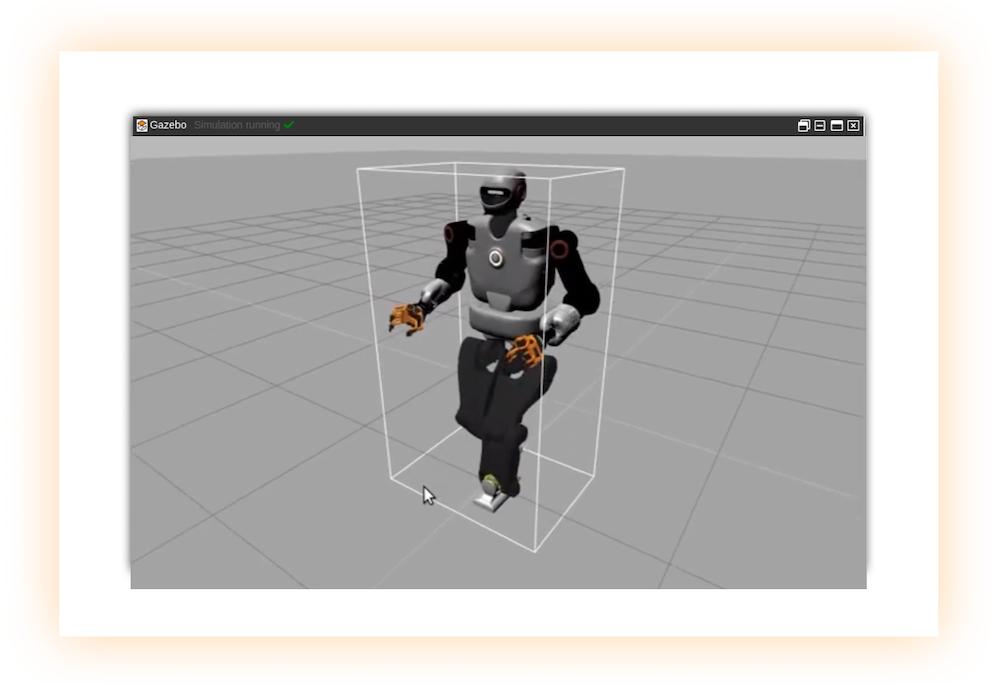 Talos humanoid robot simulation