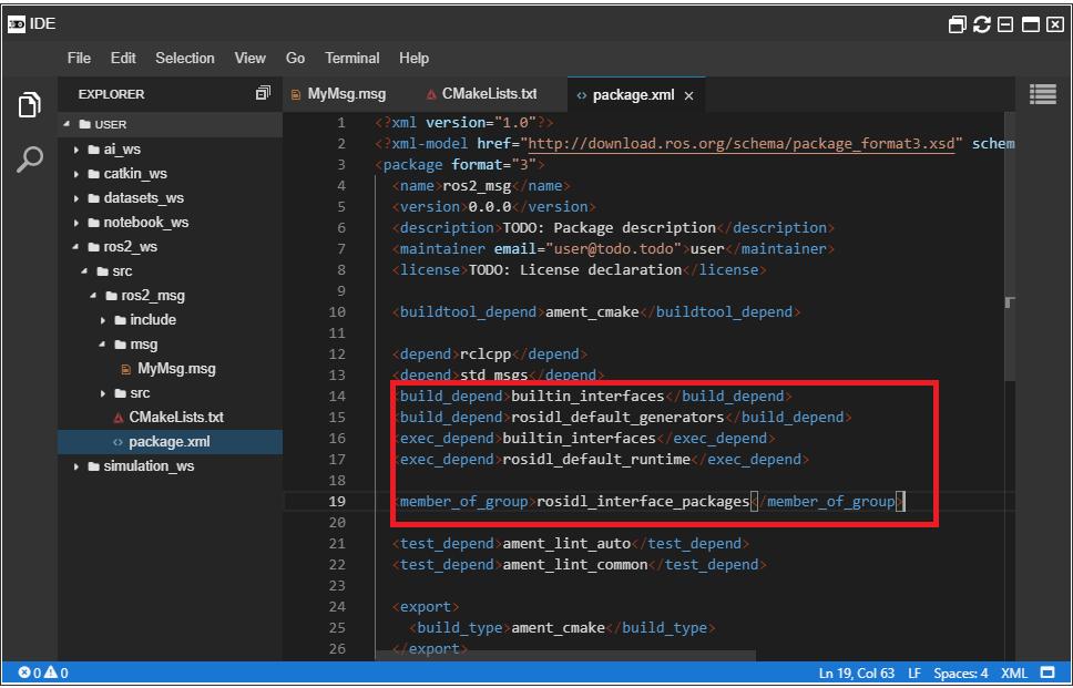 Add dependencies to package.xml