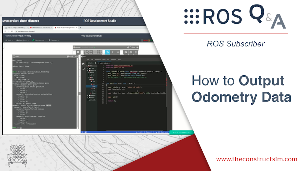 [ROS Q&A] 196  – How to Output Odometry Data