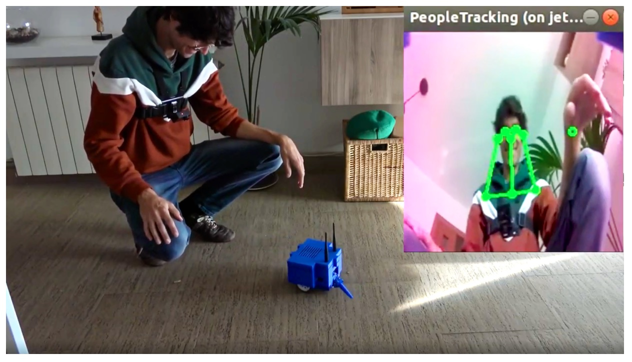 Create a people follower that will allow your robot to detect people and follow them using a deep learning model