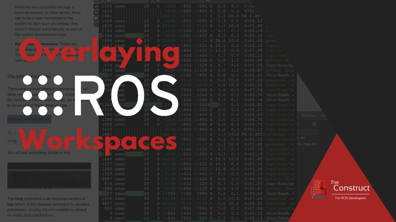 Overlaying ROS Workspaces