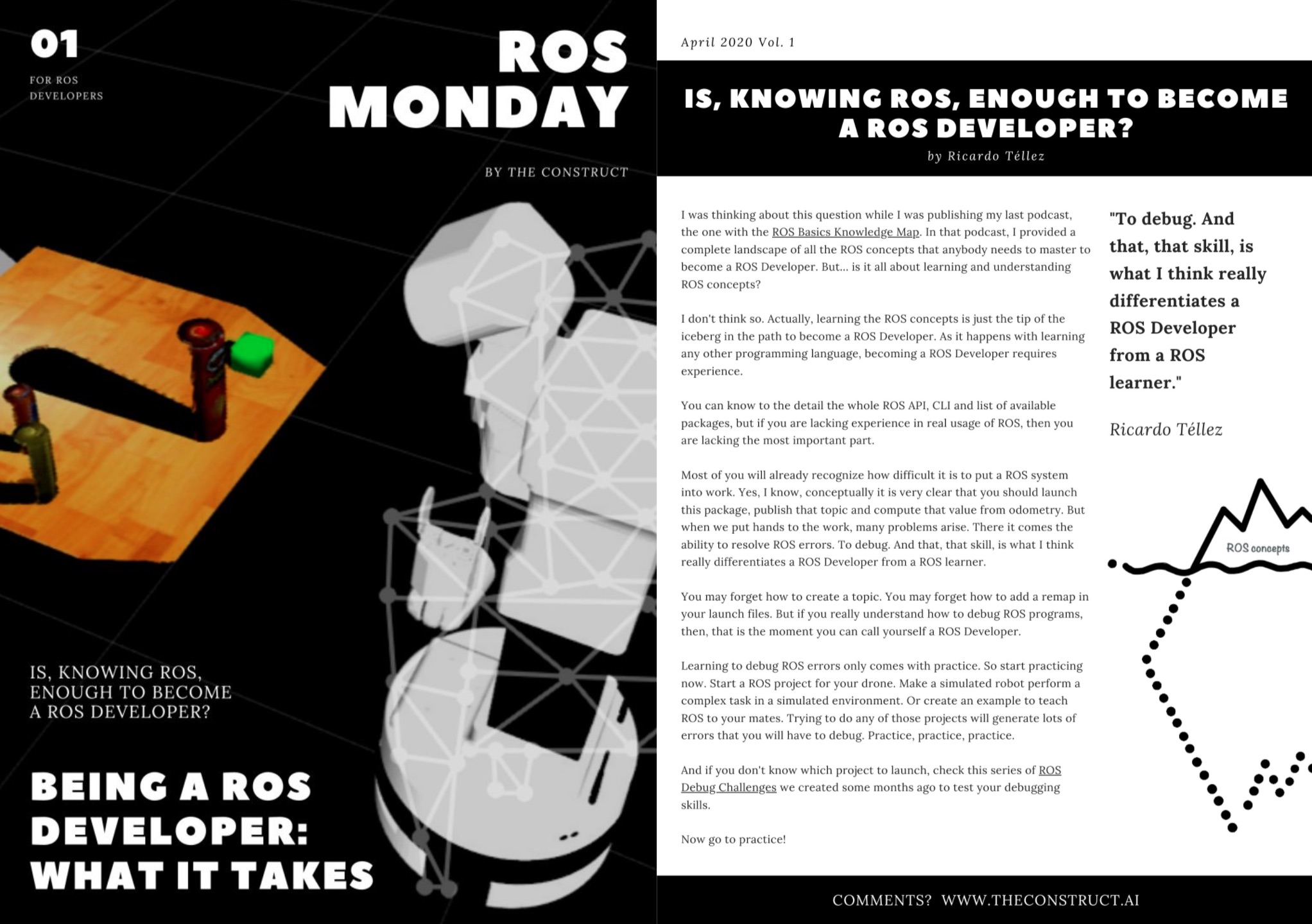 ROS Monday Vol.1 – Being a ROS Developer: what it takes