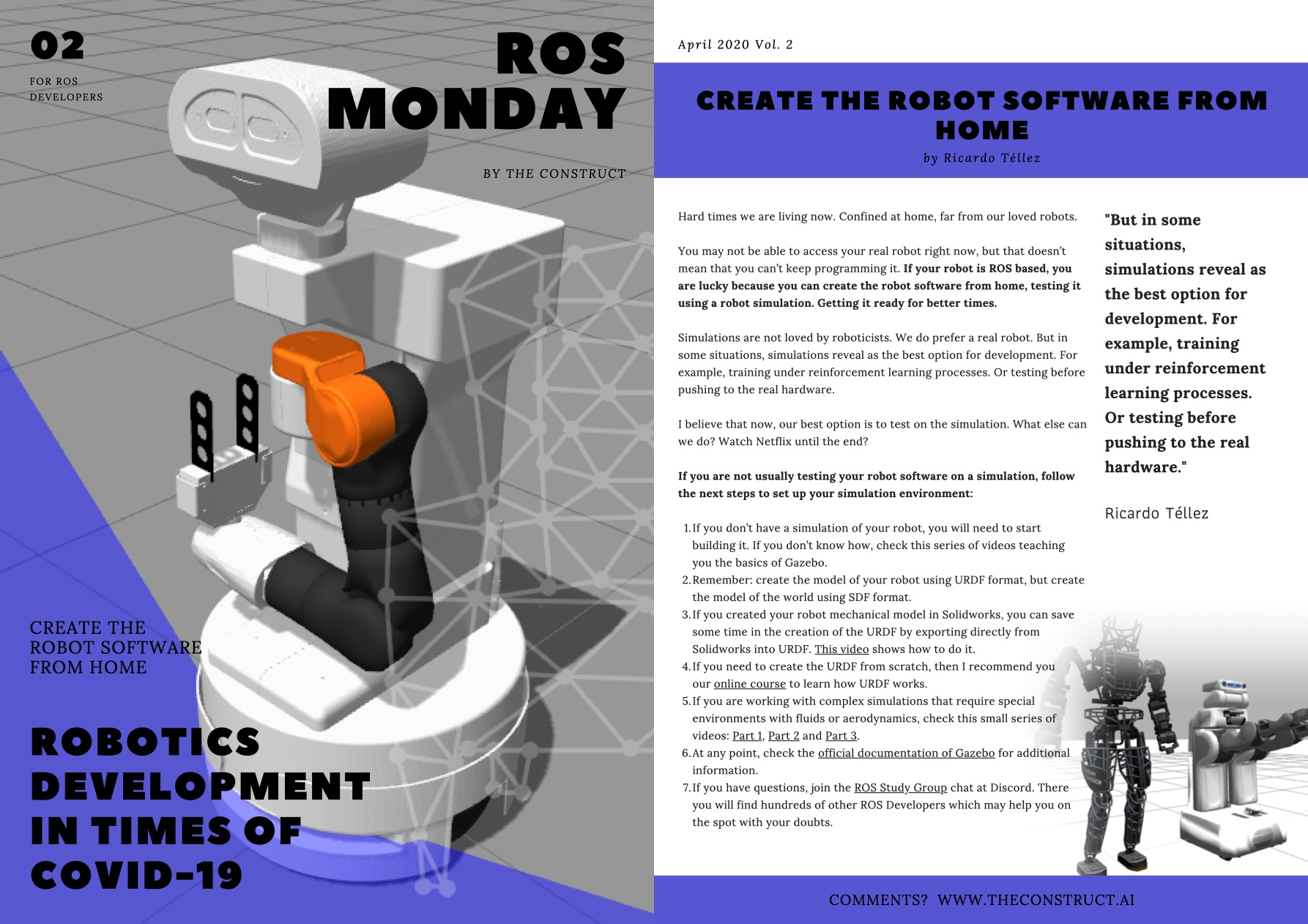 ROS Monday Vol.2 – Robotics Development in times of COVID-19