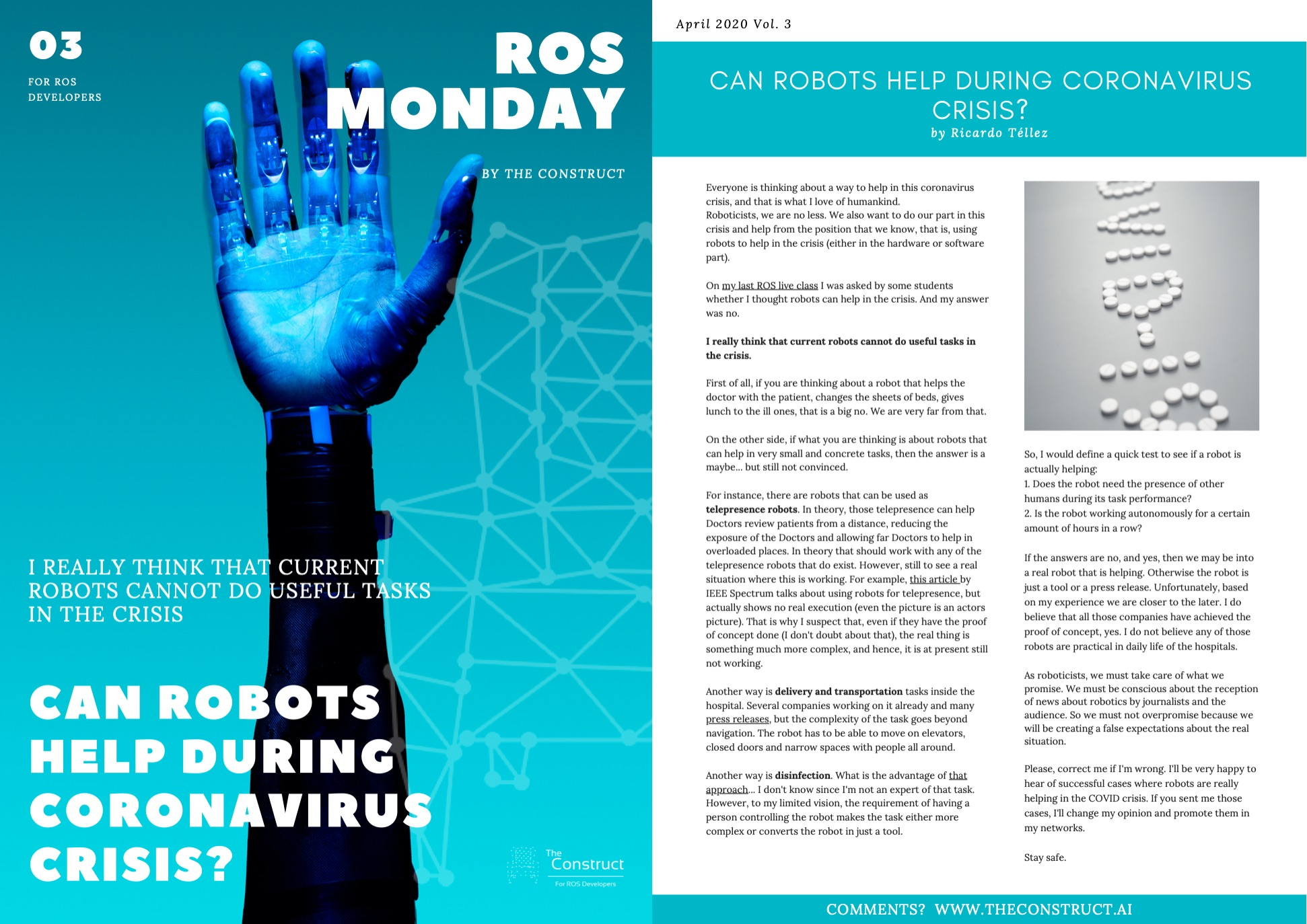 ROS Monday Vol.3 - Can robots help during coronavirus crisis?