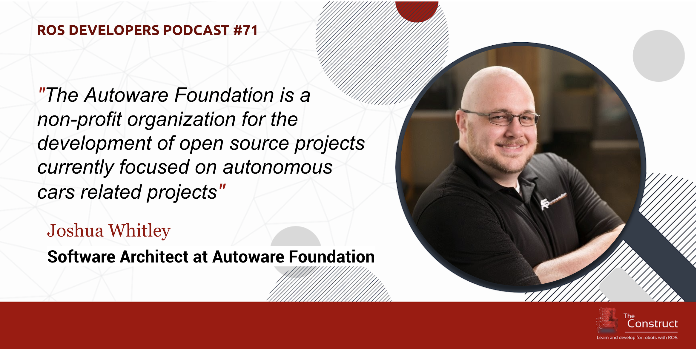The Autoware Foundation (self-driving cars) with Joshua Whitley