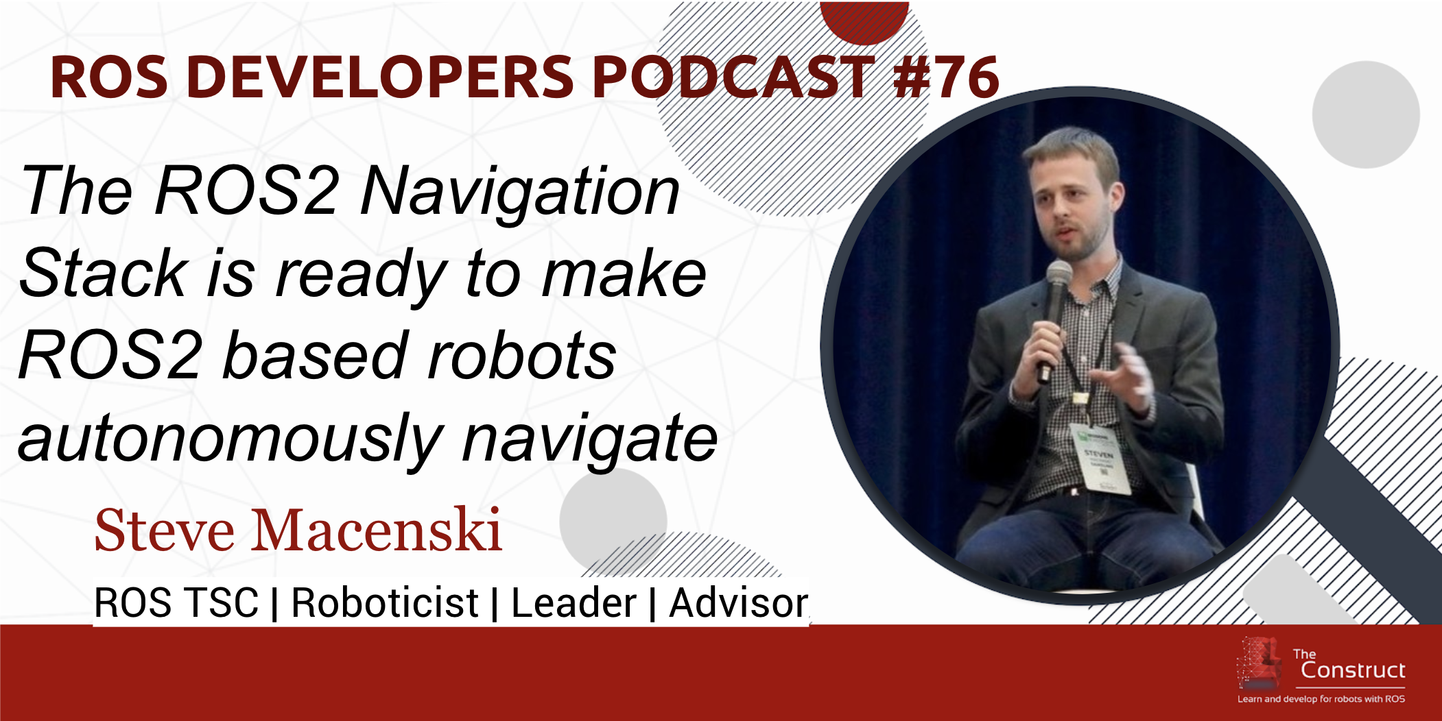 76. ROS2 Navigation Stack with Steve Macenski