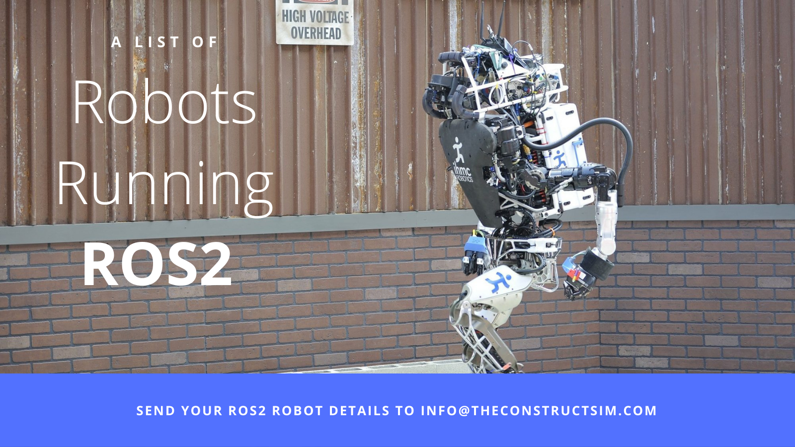A list of robots running on ROS2